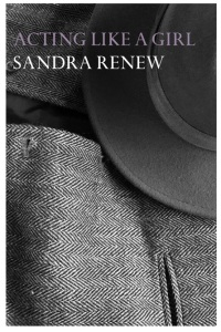 Waistcoat and hat. Text: Acting Like a Girl, Sandra Renew.